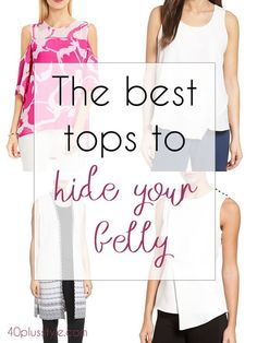 The best tops to hide yur tummy | 40plusstyle.com