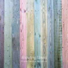 Colored Wood Digital Backdrop Weathered Shabby Wood by MovingLines