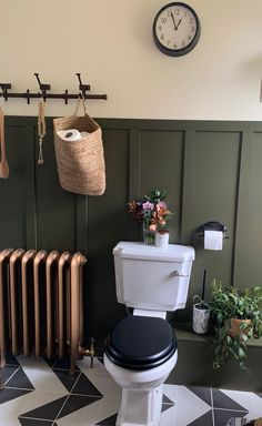 Before and After: Master Bathroom Remodel Photos Small Downstairs Toilet, Small Toilet Room, Downstairs Cloakroom, Small Toilet Decor, Boho Bathroom, Bathroom Styling, Bathroom Interior, Small Bathroom, Master Bathroom
