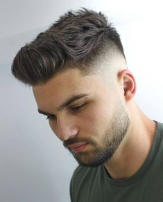 Best Men's Haircuts For Your Face Shape 2019 Best Haircut For Square Face Men – Low Bald Fade with Short Textured Hair on Top with Brushed Up or Spiky Front Related posts: Mens Haircuts Receding Hairline 125 Best Haircuts For Men in 2019 Haircut For Square Face, Square Face Hairstyles, Quiff Hairstyles, Cool Hairstyles For Men, Cool Haircuts, Haircuts For Men, Men's Haircuts, Faded Beard Styles, Beard Styles For Men