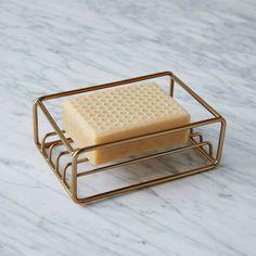 West Elm Brass Wire Soap Dish Bath Accessories, Kitchen Accessories, Interior Accessories, West Elm, Objet Deco Design, Design Industrial, Brass Kitchen, Kitchen Sink, Open Kitchen