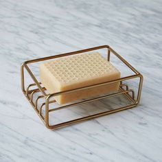 West Elm Brass Wire Soap Dish