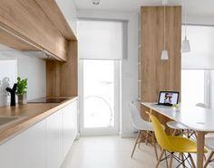 Aranżacje wnętrz - Jadalnia: Mieszkanie M&M - Mała otwarta jadalnia w kuchni, styl nowoczesny - 081architekci. Przeglądaj, dodawaj i zapisuj najlepsze zdjęcia, pomysły i inspiracje designerskie. W bazie mamy już prawie milion fotografii!