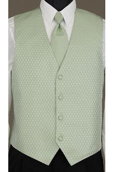 Celery Legacy vest and matcing windsor tie by Oleg Cassini at Tuxedo Junction