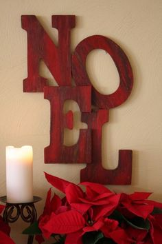 Christmas Holiday - Sand and Sisal: Pottery Barn Inspired Noel Tutorial Merry Little Christmas, Noel Christmas, Primitive Christmas, Christmas Projects, Winter Christmas, Holiday Crafts, Holiday Fun, Christmas Letters, Christmas Ideas
