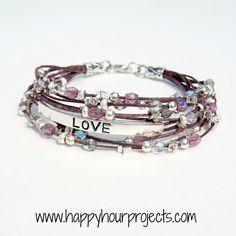 """Beaded """"Love"""" Bracelet"""