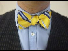 Every man should know how to tie a Bow Tie for their wedding or special occasions.  Here's how.