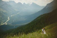 bride and groom - rocky mountain wedding