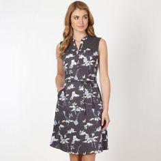 f759d9f8cf Mantaray Womens Dark Grey Kite Print Shirt Dress: Mantaray: Amazon.co.uk