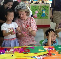 King Philippe and Queen Mathilde of Belgium visit the Wuhan Urban Planning Exhibition Hall on June 21, 2015 in Wuhan, China. (King Philippe and Queen Mathilde of Belgium is on a 7 - day visit to China.)