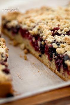 Ciasto ucierane z owocami i kruszonką, najlepsze