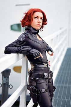Everleigh) Because I'm a total geek, I'm going as Black Widow for Halloween. I've been wanting to change up my hair so I decided to cut it and dye it red as well.