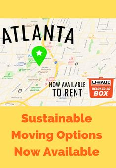 Ready to make sustainable moves in Atlanta? U-Haul Ready-To-Go℠ Boxes have just what ya need👍 Click through to learn more about sustainable moving in Atlanta. Moving Truck Rental, Moving Supplies, Green Environment, Busy City, Moving Tips, Guilt Free, Things To Know, Biodegradable Products, Make It Simple