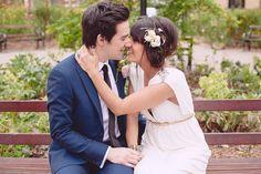 An Elegant Grecian Style Gown for A Laid Back London Pub Wedding