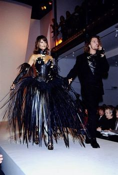 Helena and Michael for Thierry Mugler Spring/Summer 1994