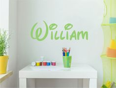 Personalise your nursery, bedroom, or playroom decor with our quality custom name wall stickers. Choose from 11 cool fonts, numerous colour options and three sizes Personalised Wall Stickers, Name Wall Stickers, Playroom Decor, Bedroom Decor, Wall Sticker Design, Beautiful Wall, Cool Fonts, All Design, Free Delivery