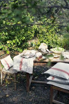 linen in the garden
