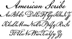 American Scribe font by Three Islands Press - the Declaration of Independence was authored by Thomas Jefferson, but the classic handwriting on the engrossed copies familiar to most Americans belonged to Timothy Matlack, an early patriot. Matlack's script was compact and legible, perfect for the first and most famous of American documents. Now you can write that way, too!