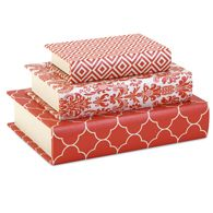 Essentials Book Boxes Orange - Set of 3