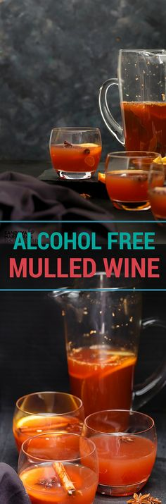 Alcohol Free Mulled Wine   Cranberry, Apple and Orange Juice is simmered in Mulled Spices, making a perfect alternative to Mulled Wine.