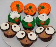 halloween cupcakes pumpkins ghosts and owls