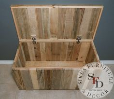 Pallet Chest SALE Reclaimed Pallet Wood by SibusFurniture on Etsy