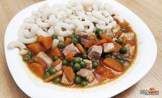 Bravčové na zelenine s cestovinou | recept | RadVarim.sk Tofu, Red Peppers