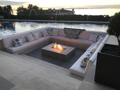 In a fire pit and a seating area with a pool - # a # a # fire pit . - In a fire pit and a seating area with a pool – - Fire Pit Seating, Backyard Seating, Backyard Patio Designs, Fire Pit Backyard, Backyard Landscaping, Backyard Ideas, Modern Backyard Design, Pool Ideas, Fire Pit Next To Pool