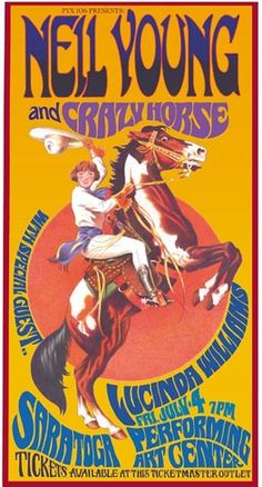☮ American Hippie Classic Rock Music ~ Psychedelic Art . . . Neil Young & Crazy Horse concert poster by Bob Masse