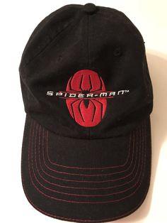 2001 SPIDER-MAN MARVEL Strapback Embroidered Hat Black  fashion  clothing   shoes   237c1e016091