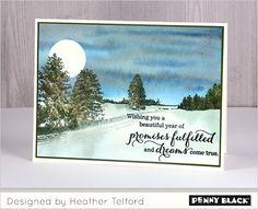 Penny Black Stempelsets  30-450 Peaceful Winter | 30-453 Love & Peace