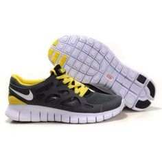reputable site 52bb8 8fdca Sale Cheap Anthracite White Black Sonic Yellow Nike Free Run 2 Size 12 The  Most Lightweight Shoes