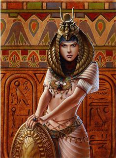 Isis-Deusa mãe e do amor, filha de Geb e Nuit, irmã e esposa de Osíris. Quando Seth matou e esquartejou Osíris, Isis procurou pelos pedaços do corpo