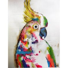 Colourful Cockatoo Original Artwork by Alissa Wright Matisse, Jungle Art, Recycled Art, Bird Art, Oeuvre D'art, Watercolor Art, Photo Art, Cool Art, Art Projects