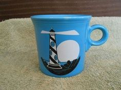 Fiesta® Peacock Lighthouse Mug made by Homer Laughlin China | WorthPoint