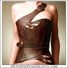leather corset, @Lori Watson, is this not the coolest thing ever? LOVE it.