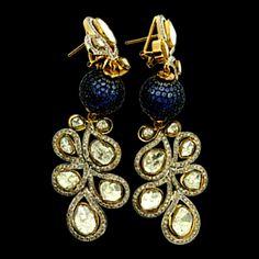 Stunning Jewels by Birdhichand Ghanshyamdas Jewellers Jewelry Design Earrings, Designer Earrings, Designer Jewellery, Jewellery Designs, Bridal Jewelry, Gold Jewelry, Jewelery, Jewelry Box, Temple Jewellery