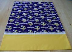 Minnesota Vikings pillowcase with French seams by JamesRiverCrafts on Etsy