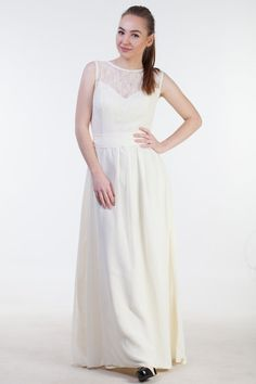 Pastel yellow bridesmaid dress Pale yellow by HelensWear on Etsy