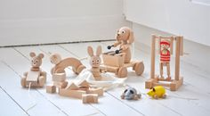 Wooden toys by Sarah & Bendrix, as featured on Bobby Rabbit