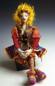 Sunny by cloth doll artist Patti Medaris Culea