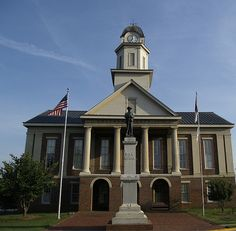 Chatham Co. Courthouse Front by revanovum, via Flickr (Pittsboro, NC)