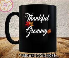 Grammy Thanksgiving, Thankful Grammy, Grammy Coffee Mug, Grammy Christmas Gift, Personalized Mug, Grandma, Mimi, Memaw by WowTeez on Etsy