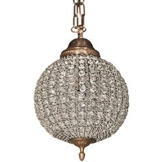 Crystal Ball Pendant Light - Would be pretty in the bathroom