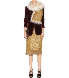 Dries Van Noten - Jacquard and faux shearling scarf - mytheresa.com