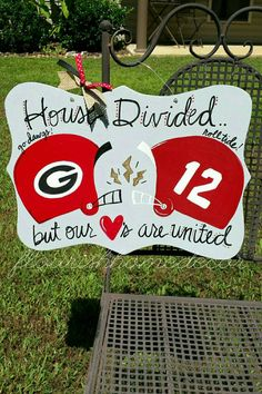 Hey, I found this really awesome Etsy listing at https://www.etsy.com/listing/215316812/any-team-house-divided-sign-custom-house