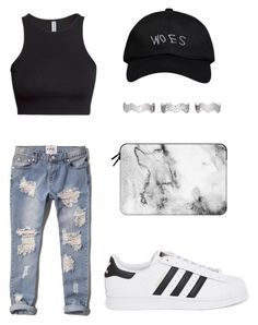 """Untitled #117"" by the-alien ❤ liked on Polyvore featuring October's Very Own, H&M, Abercrombie & Fitch, adidas Originals, Eddie Borgo and Casetify"