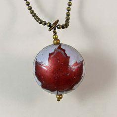 Molson Ice Upcycled Bottlecap Pendant Necklace by XOHandworks $14