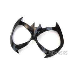 Batgirl All Star Leather Mask Halloween Black Cat by LMEmasks