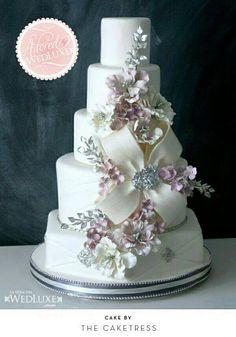 Majestic floral wedding  cake